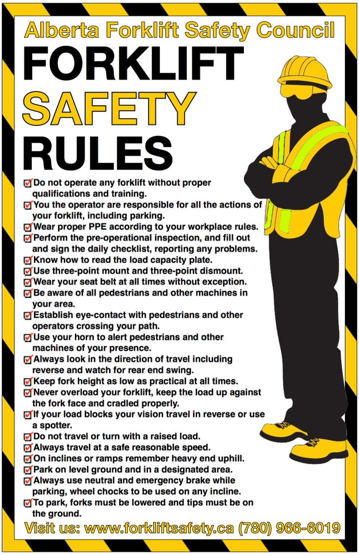 New Safety Poster from the Alberta Forklift Safety Council ...