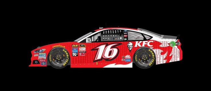 Best paint schemes of 2016  By Jessica Ruffin | Wednesday, December 14, 2016  Greg Biffle drove the No. 16 KFC Nashville Hot Ford to a 34th-place finish at Daytona in February.