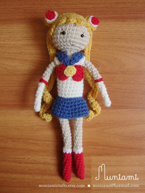 Sailor Moon amigurumi crochet muñecas