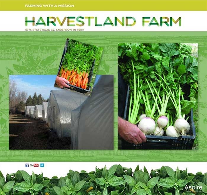 We have a new website! We'll be adding photos, videos and many other items to make it better so keep visiting us at:  http://www.aspireindiana.org/harvestlandfarm.html