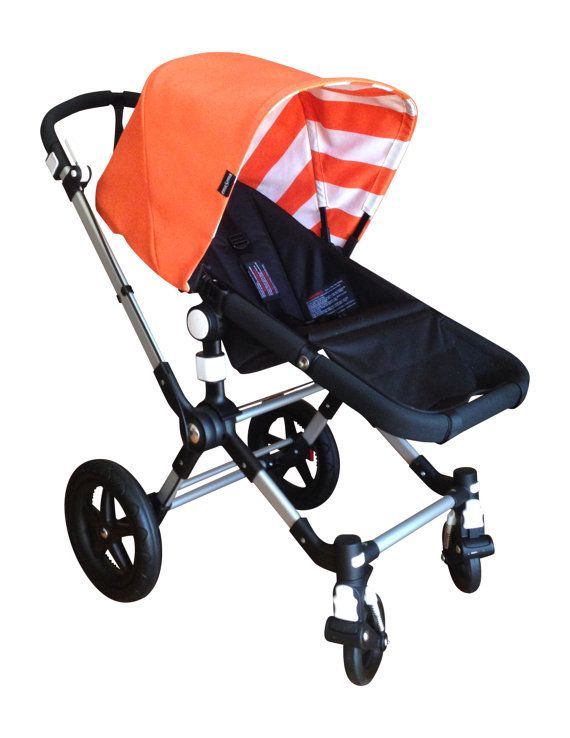 Bugaboo Hood Custom emaSema Orange Striped Inside Sun by emasema  sc 1 st  Pinterest : bugaboo bee custom canopy - memphite.com