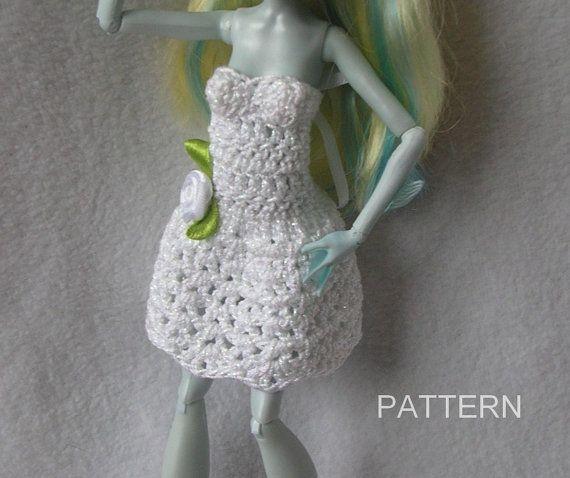 Monster High Doll Crochet Dress Pattern Ever by DollBabiesReborns, $3.00