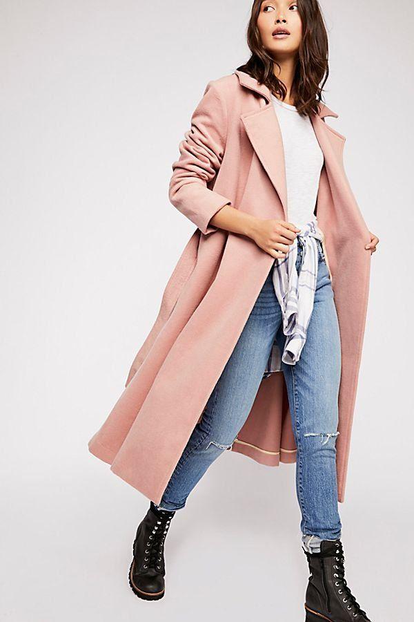 80ec1ce0ce1 Sierra Wool Coat - Light Pink Overcoat - Fall Coats