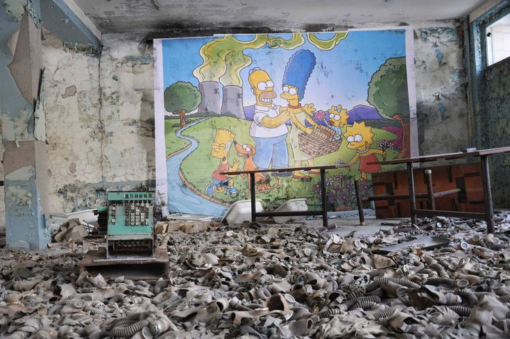 Someone painted a Simpsons mural at an abandoned building in ...