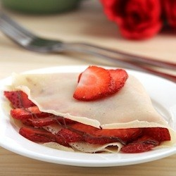 Strawberry and Nutella Crêpes #inlovewithnutella