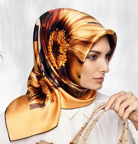 Armine Silk Hijab Scarf Spring Summer 2015 #6444 – Modefa USA
