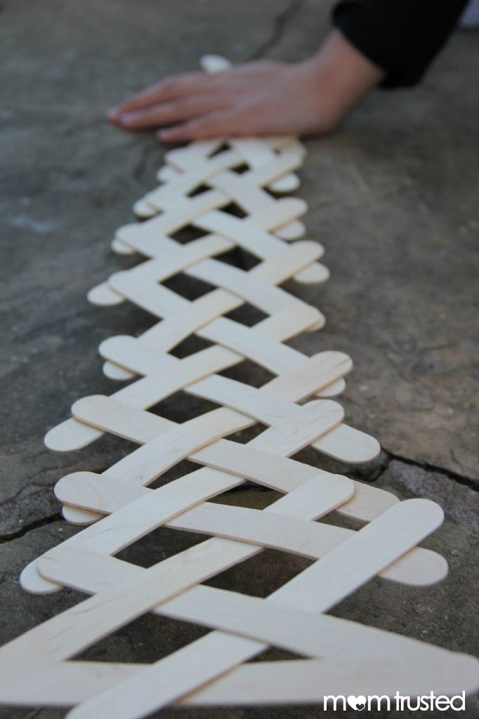 How to make your own popsicle stick chain reaction.  So cool to see the whole…