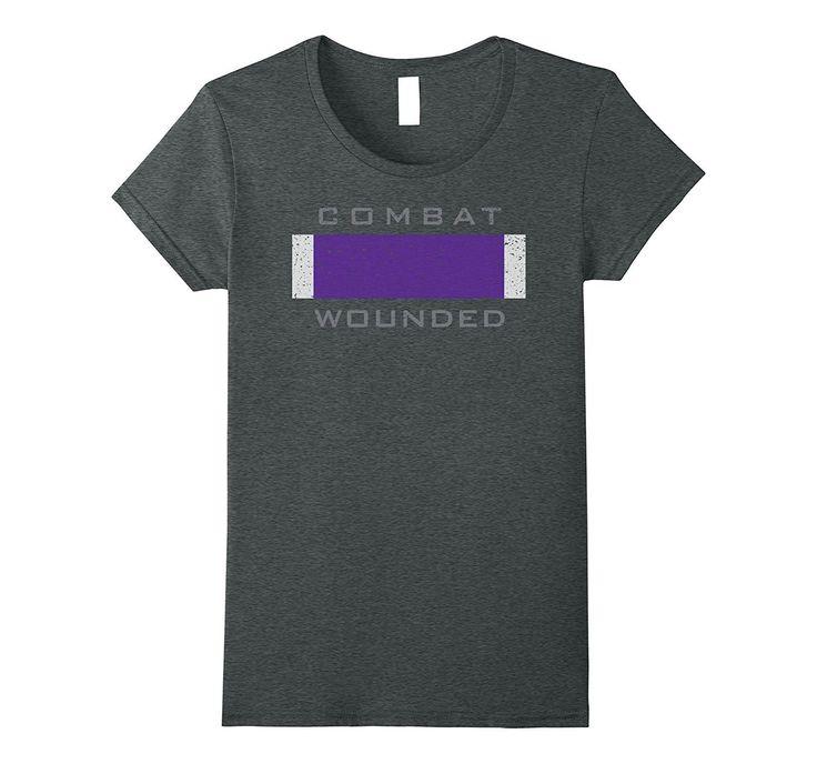 Purple Heart Award Veteran T-Shirt Combat Wounded Tee