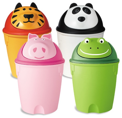Animal Swing-Lid Cans - eclectic - waste baskets - The Container Store