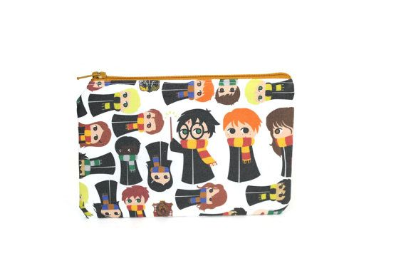 This Harry Potter bag is handmade, and just the right size for your iPhone or small camera. Our zipper pouch fabrics are chosen for their