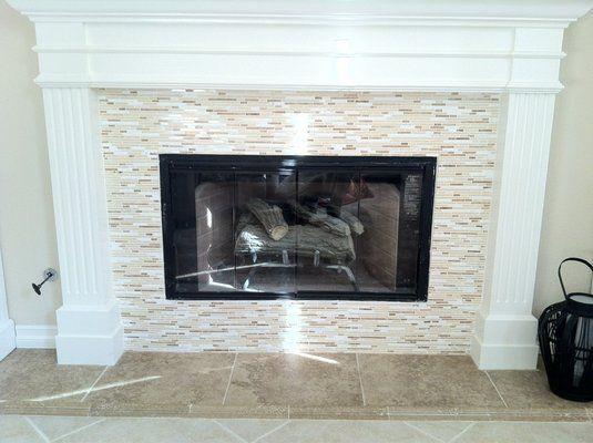 New Mosaic Tile Fireplace