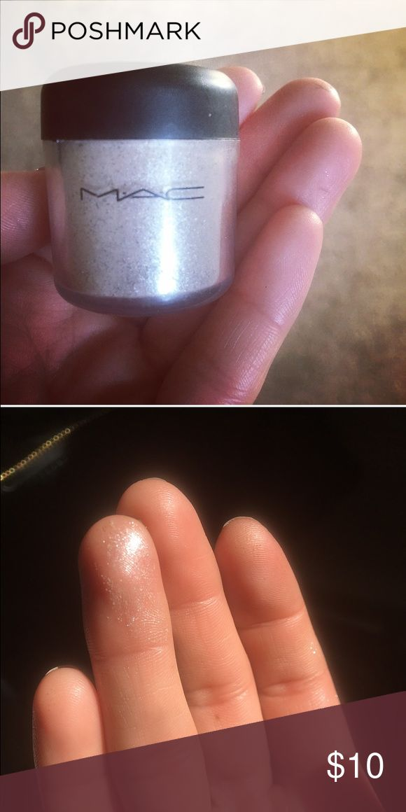MAC Cosmetic pigments This color is called Peach Pearl. It is no longer sold by MAC. And it is not a fake product. I bought it from the MAC store. Shows up like a silver fairy dust. Used once!!! MAC Cosmetics Makeup Eyeshadow