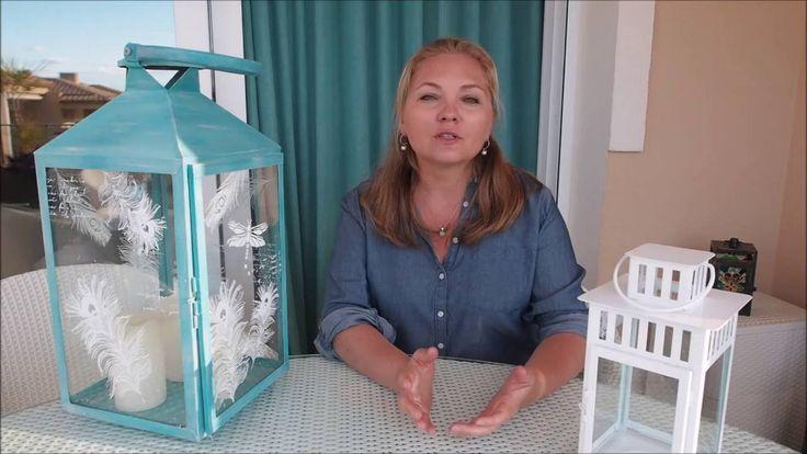 Видео мастер-класс Аллы Мавриной Декор Фонаря меловыми красками.