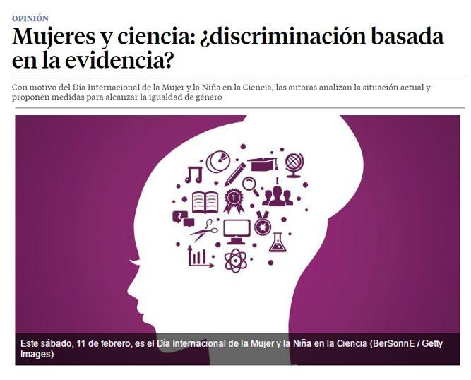 Mujeres y ciencia : ¿discriminación basada en la evidencia? / @LaVanguardia | #readytocrackglassceilings