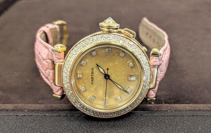 Pasha de Cartier C Gold 1035, 35mm, Automatic, Diamond Dial , Gold Case, Diamond #Cartier #Luxury