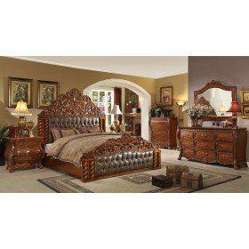 homey design hd20131 5pcs victorian european cal king bedroom set