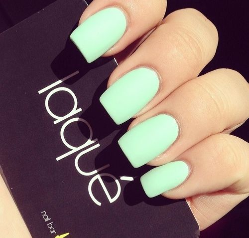 Bright Green Matte Gel Manicure