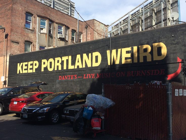 Keep Portland Weird sign in downtown  © Sarah Murphy