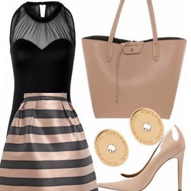 Outfit Rosa antico chic