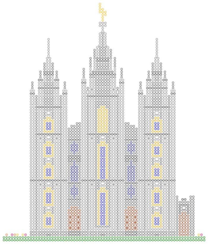 Patrones de Templos a punto de cruz | Mujeres Jóvenes SUD
