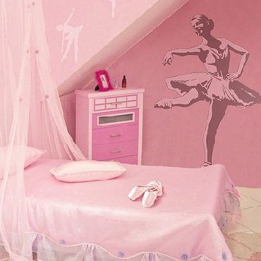 Perfect wall drawing for my little ballerina's room.