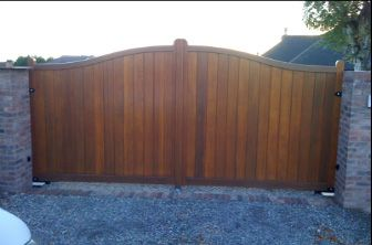 style of wooden gates is popular for privacy and security due as they are usually fully boarded in.