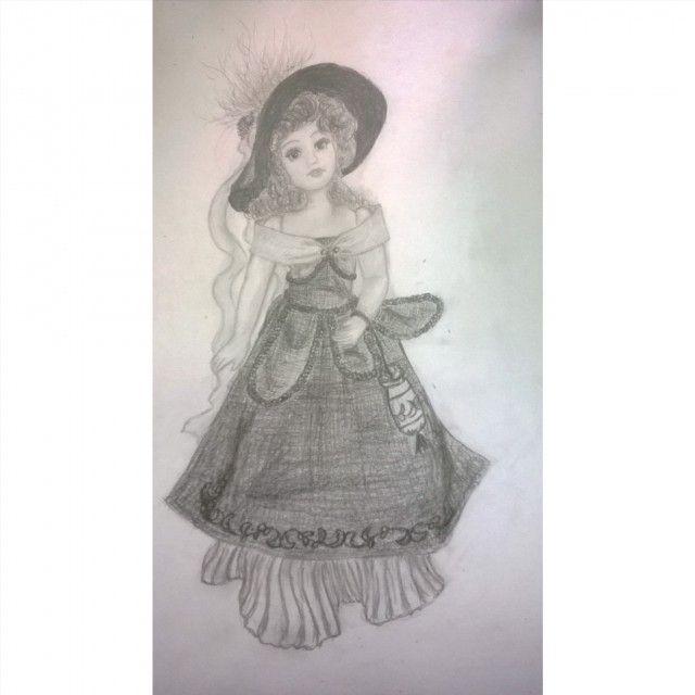 #myart #art #rysunek #szkic #ołówek #drawing #sketch #doll #victorian #victorianstyle #lalkaporcelanowa #stylwiktoriański