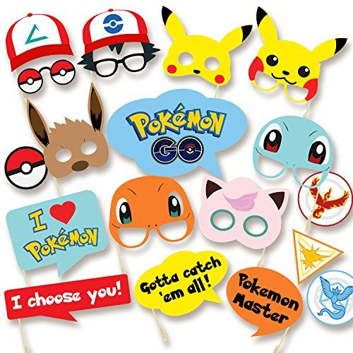 Pokemon Party Supplies - Photo Booth Props Suitable for Birthday Theme Party Great Party Ideas - Must Have for Pokemon Fans - https://partysuppliesanddecorations.com/pokemon-party-supplies-photo-booth-props-suitable-for-birthday-theme-party-great-party-ideas-must-have-for-pokemon-fans.html