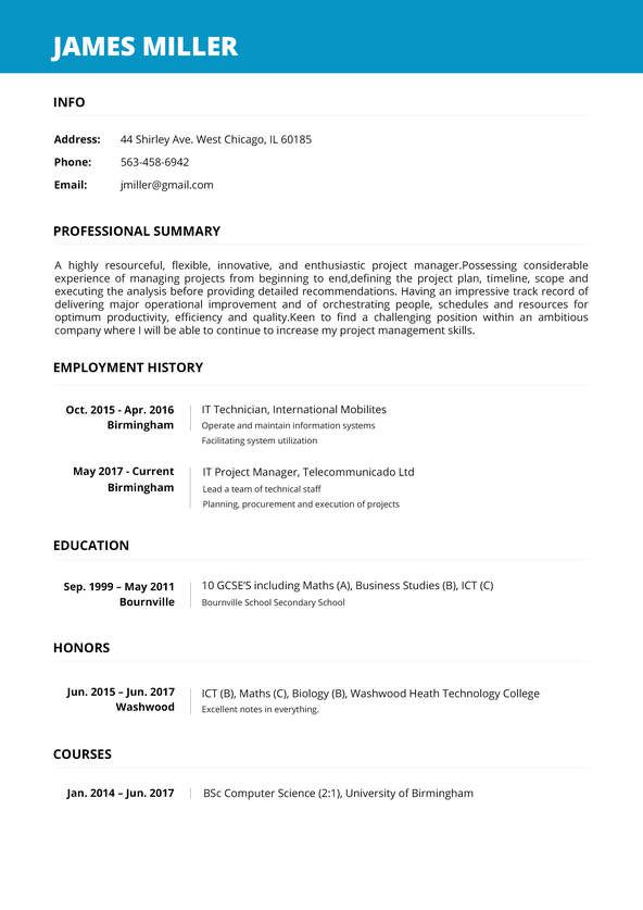 Perfect Resume Builder from i.pinimg.com