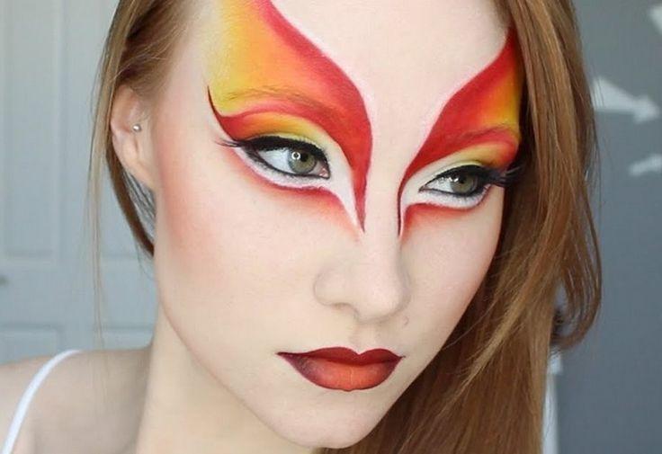 Phoenix Colors And Beautiful Eyes Makeup Fantasy Make Up Zirkus Make Up Theaterschminke