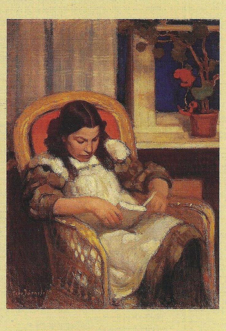 Eero Järnefelt 1863-1937, Lukeva tyttö, 1909, Girl Reading. Ateneum, Helsinki.