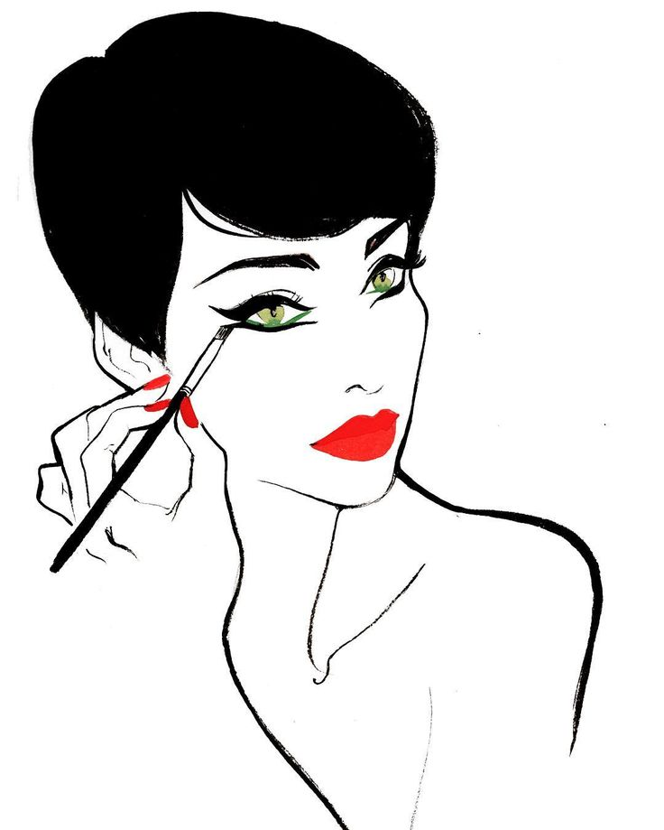 Crazy Horse Paris, Regina Yazdi illustration - Mika Do is known for having the best signature makeup amongst the dancers.