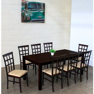 Warehouse Of Tiffany Justin Dark Brown Dining Set   Overstock™ Shopping    Big Discounts On Warehouse Of Tiffany Dining Sets
