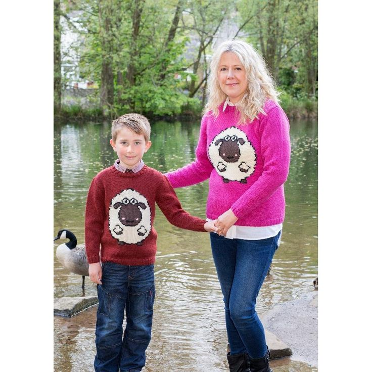 The WoolyJumper is jumper for all ages! featuring the woolyknit mascot (a woolly sheep) on the front and back!