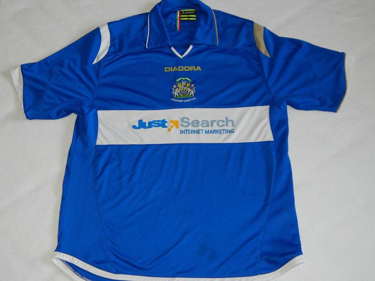 STOCKPORT COUNTY FC FOOTBALL 2007-09 HOME SHIRT ,MENS LARGE