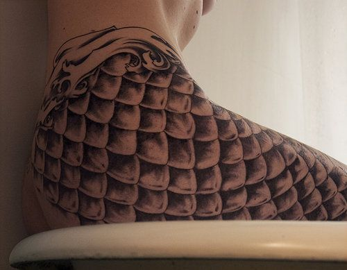 mermaid tattoo. If I were to ever get a tattoo it would be something like this, but perhaps just a scale or two ...