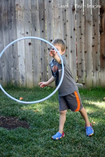 Outdoor Hula Hoop Games          I am always on the look out for inexpensive tools to incorporate more gross motor activity into our dail...