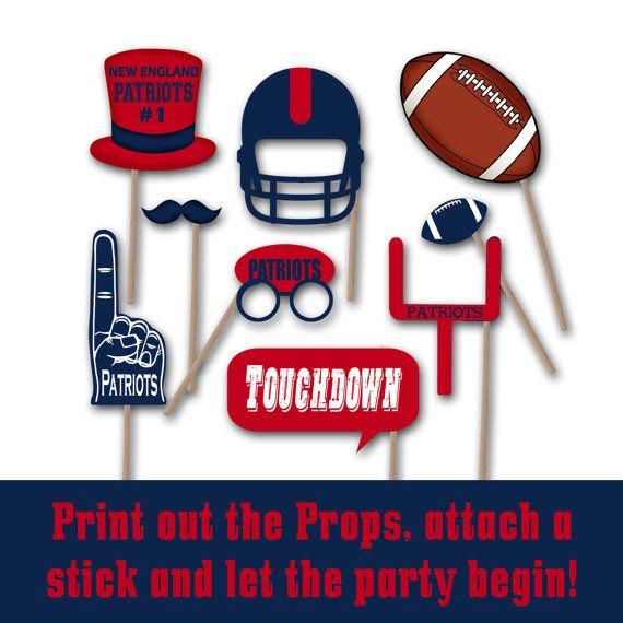 New England Patriots Football Photo Booth Props by OldMarketCorner
