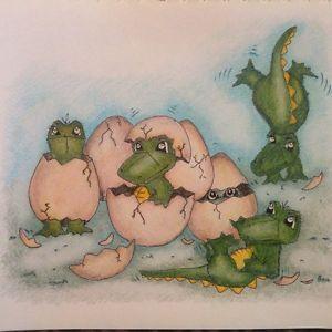 "Cric Croc © Print BY Nikki Ball ""Cric Croc IS Hatched"" | eBay"