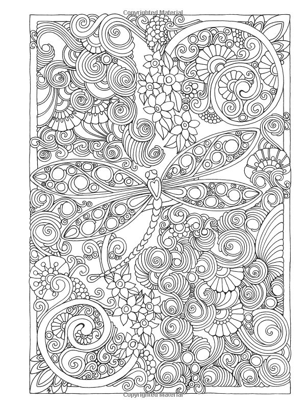 Creative Haven Entangled Dragonflies Coloring Book Adult Dr