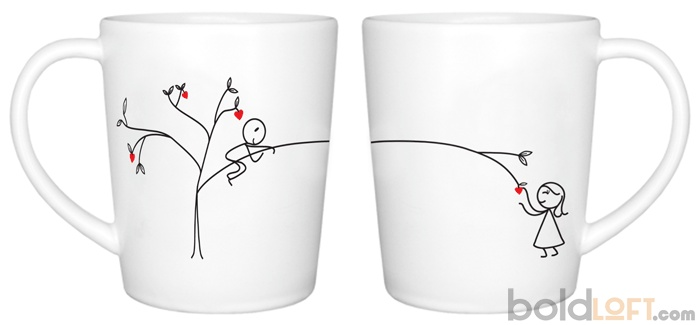 "BoldLoft ""Love Grows for You"" His and Hers Couple Coffee Mugs-""My love grows for you like the fruit on a tree, growing sweeter each day you spend with me."" Express your love with these his and hers couple coffee mugs. Perfect anniversary gifts, Valentine's Day gifts, Christmas gifts, and birthday gifts for boyfriend, girlfriend, husband or wife."