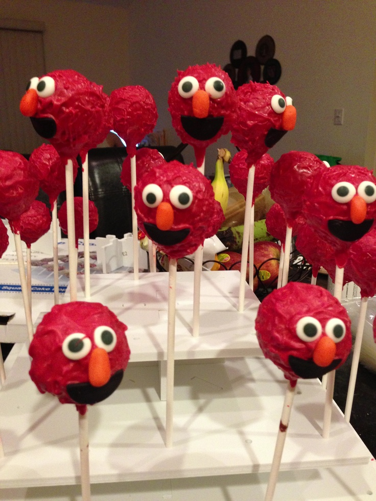 Elmo Cake Pops Photo