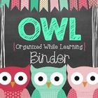 This editable OWL Binder FREEBIE can used to create a communication binder for your kiddos.