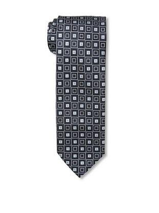Massimo Bizzocchi Men's Square Tie, Black