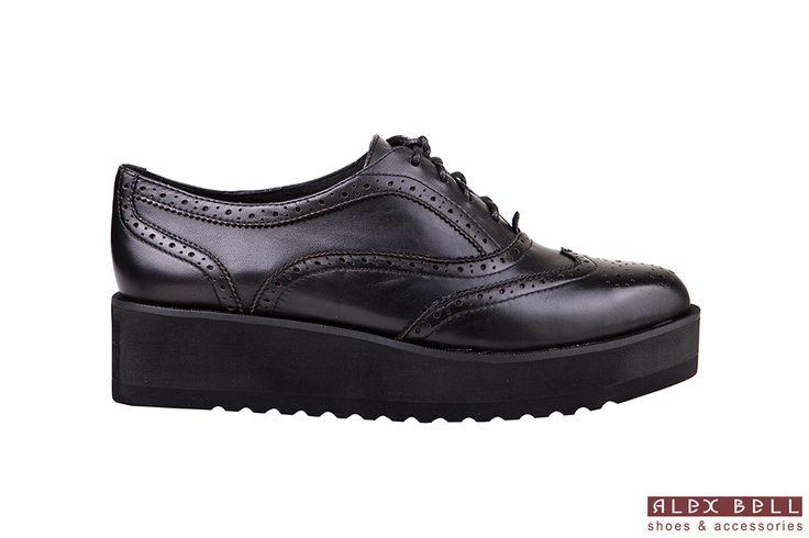 женские туфли черные на платформе осень