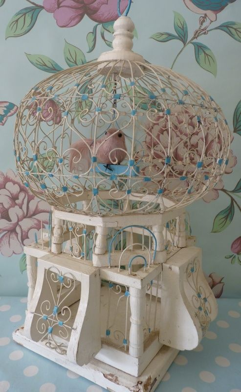 Flea Market Shabby Chic Furniture | This pretty vintage birdcage from the early 1900′s is originally ...