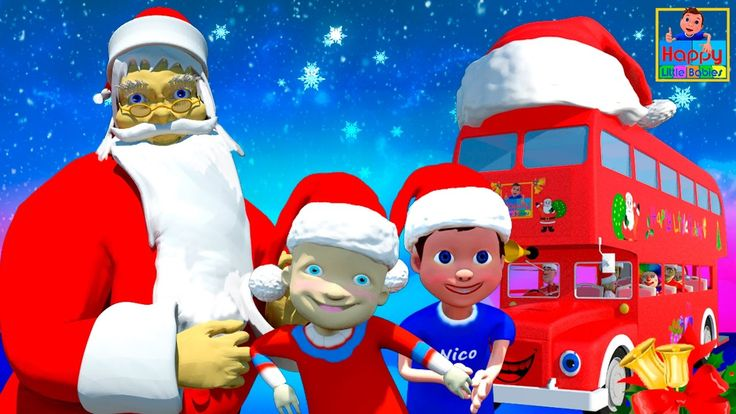 Wheels On The Bus | Christmas Special | Jingle Bells |  | Happy Little B...
