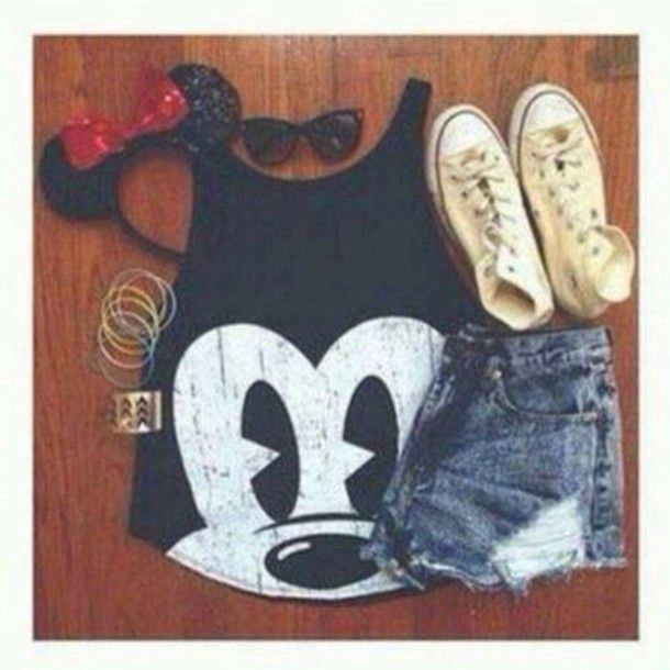 shirt black white mickey mouse disney tank top
