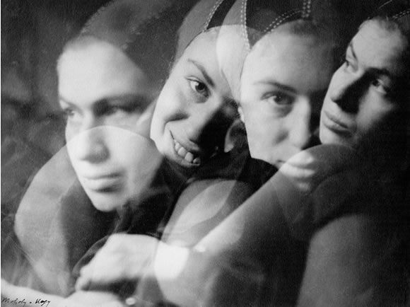 László Moholy-Nagy, Untitled (Multiple Portrait), c. 1927, Collection Folkwang Museum, Essen - Using his photos/photograms as a form of outography.