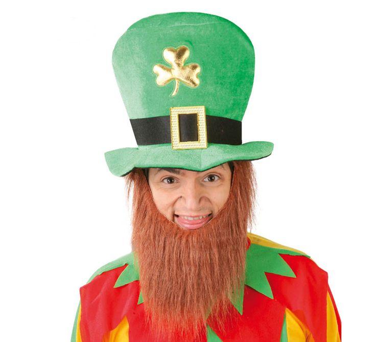 Sombrero o Gorro de #duende para #SanPatricio con Barba. #saintpatrick #stpatrick #sanpatricio #disfraces #disfrazzes #costume #costumes